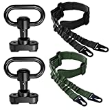 SMALLRT 2 PCS 2 Point Sling Quick Adjust with 2 Pack QD Sling Swivels Mount, Push Button Quick Release Sling Attachment Point for Mlok Rail