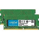 Crucial CT2K16G4DFD832A 32 GBキット(16 GB x 2)(DDR4 3200 MT/秒 PC4-25600 CL22 デュアルランクx 8 SODIMM 260ピン)メモリ グリーン