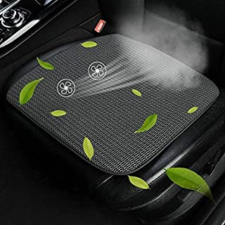 Universal Car Summer USB Cooling Pad Seat Cushion High Quality (Color : Black)