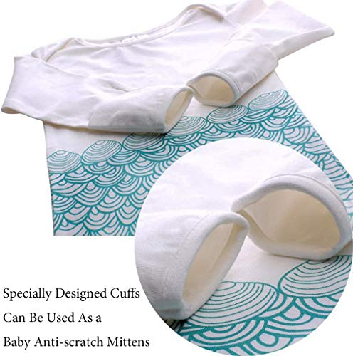 NinkyNonk Cute Mermaid Newborn Sleeping Bag Warm Cotton Baby Summer Sleep Bag Wearable Blanket for 0-12 Months