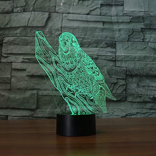 Lampada Da Scrivania 3D Touch Control E Telecomando Tiger Da Tavolo A 16 Colori Con Luce Visiva Per La Notte
