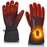 Heated Gloves for Men Women,Rechargeable Electric Battery Thermal Heating Gloves for Skiing Motorcycle Snowboarding Biking Hunting Hand Warmer