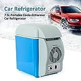 Wixm 7.5L Mini Auto Kühlschrank Kühlung Isolierung Mehrzweck Auto Reise Kühlschrank 12V Geringer Stromverbrauch Kleine Gefriertruhe Tragbar mit Gurt Geräuscharm Kühlschrank