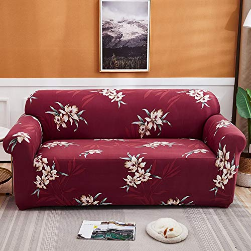 Fundas Protectoras de sofá Impresas para Sala de Estar Funda elástica elástica Fundas seccionales para sofá de Esquina A18 4 plazas