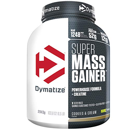 Dymatize Super Mass Gainer Cookies&Cream 2,9kg - Weight-Gainer Pulver + Kohlenhydrate, BCAAs und Casein