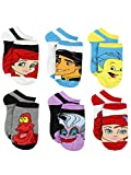 The Little Mermaid Ariel Womens 6 pack Socks (Shoe: 10-4 (Sock: 6-8), Little Mermaid Multi)