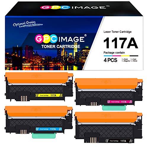 (Mit Chip) GPC Image 4er Pack 117A Kompatibel Toner Ersatz für HP 117A für HP Color Laser MFP-178nwg-179fwg-178nw-179fnw Color Laser 150a-150nw-150w (W2070A W2071A W2072A W2073A)