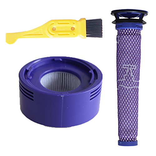 GIBTOOL 2 Pack Pre and Post Filters Replacement for Dyson V7 and V8 Cordless Vacuum Filter Bundle, Replace # DY-96566101, DY-96747801