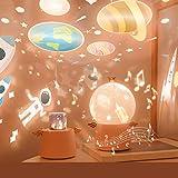 Guardian Angel Star Projector Baby Night Light Projector Lamp,Music Night Light 4 Colors and 6 Projection Theme 360° Rotating Star Light Projector for Bedroom, Kids Birthday Christmas