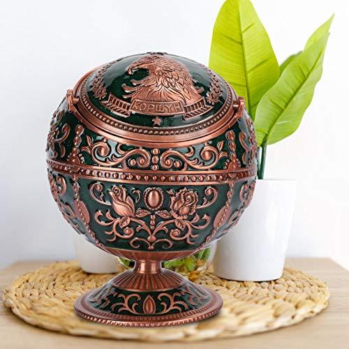 SALUTUYA Cenicero de Bola, con Tapa, Bandeja, cenicero de Mesa, para decoración de Oficina para Adornos artesanales