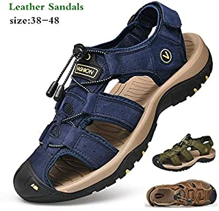 Men's Sports Sandals Trail Outdoor Water Comfortable Shoes (38,Green)