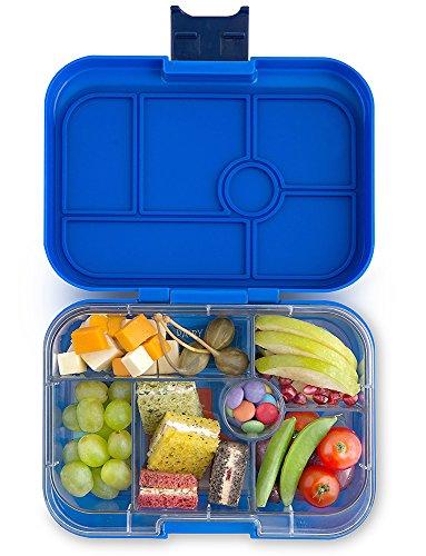 Yumbox Original M Bento Box- mittelgroß, mit 6 Fächern | Lunchbox mit Trennwand Einsatz | Kindergarten Kinder, Schule, Erwachsene (Neptune Blue)