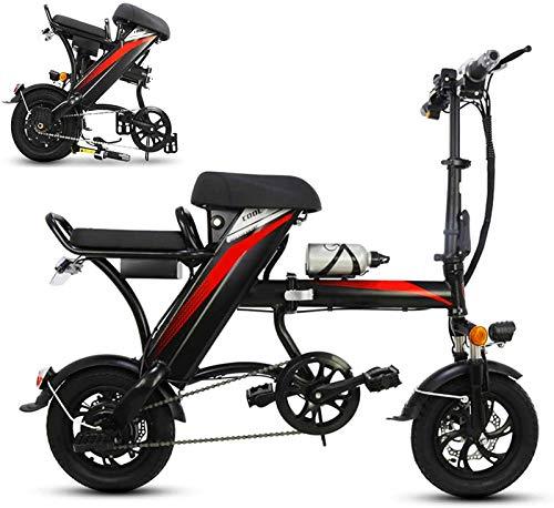 Bicicleta eléctrica de nieve, Bicicleta eléctrica plegable de 12 pulgadas para unisex con la bicicleta E-bicicleta E-Bike de la batería de litio de litio de litio de 350W 48V con el sistema de alarma