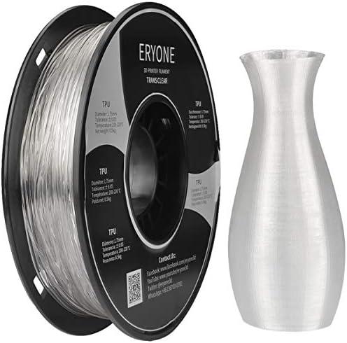 Eryone 1 75mm TPU Clear 3D Printer Filament Dimensional Accuracy 0 05 mm 0 5kg 1 1 LB Spool product image