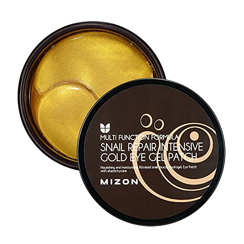 Under Eye Collagen Patches Eye Masks with 24K Gold and Snail, Eye Gel Treatment Masks for Puffy Eyes, Eye Pads for Dark Circles, Under Eye Bags, Anti Wrinkle, Moisturizing Improves Elasticity 30 PAIRS