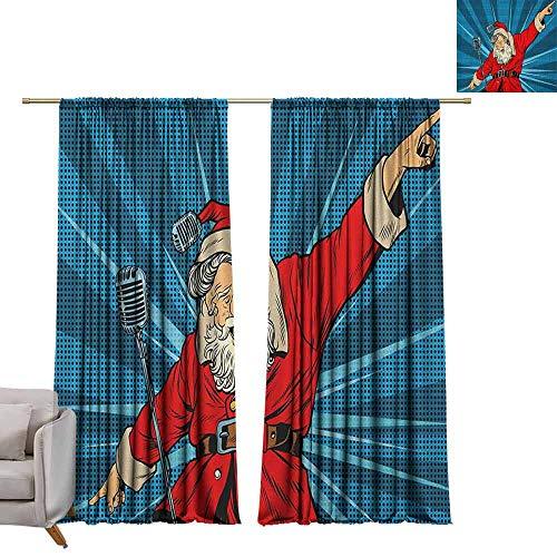 Tr.G staaf Pocket Gordijnen voor kamer donkere panelen voor woonkamer slaapkamer Popstar partij, Pile van grafische kleurrijke elektrische gitaren Rock muziek gespannen instrumenten Multi kleuren