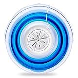 JTRHD Lavadora Y Secadora Portátil Cubo Plegable Turbo Lavadora Ropa Interior de Viaje portátil y Calcetines Adecuado para Viajes de Camping (Color : Blanco, Size : 32x32x7cm)