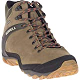 Merrell Men's Cham 8 Leather Mid Waterproof Hiking Boot, Olive - 8 Medium