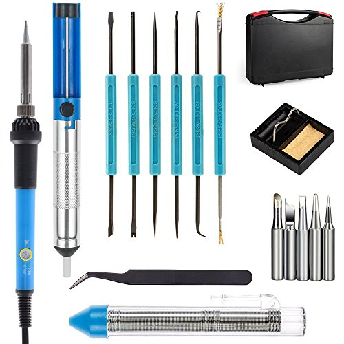 Why Choose Electric Soldering Iron Kit 60W Adjustable Temperature Welding Soldering Iron with Case,C...