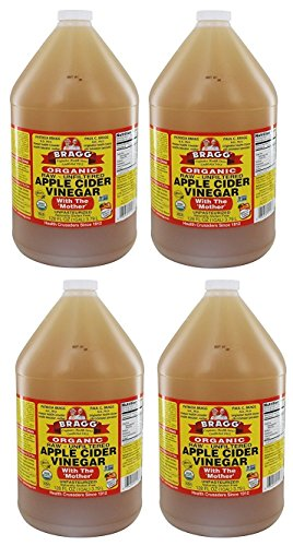 Bragg Raw Organic Apple Cider Vinegar Case of 4/1 Gallon Jugs