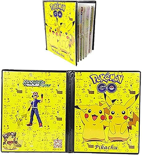 Pokemon Pikachu Pikachu Tarjeta corta de intercambio de moneda de intercambio envoltura GX Tarjetas de entrenador anterior Álbum 20 Páginas Puede contener hasta 160 tarjetas