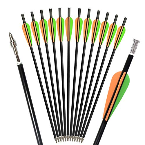 SHENG-RUI 14' Crossbow Bolts Fiberglass Arrows Archery Hunting Targets Arrow with Replaced...