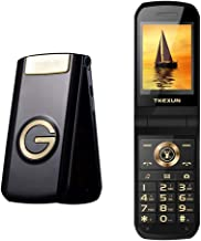 Peedeu GSM Unlocked Flip Phone, 2.6-inch Dual SIM Cell Phone, Quad-Band 2G Compatible with All GSM Networks Worldwide, Mobile Phone for Seniors Elders, Black
