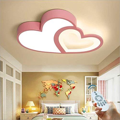 LED-Deckenleuchte Deckenleuchten Dimmbare mit Fernbedienung-Schlafzimmer-Lampe kreativer Persönlichkeit Heart-Shaped Deckenbeleuchtung Einfacher modernen Raum Lampe Atmosphäre Warm Romantische Lampen,