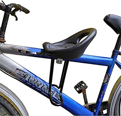 QIUR Mountain Bicycle Child Bike Seat,with Back Rest Foot Pedals Mountain Bike Saddle,Front Mounted Bicycle Seats
