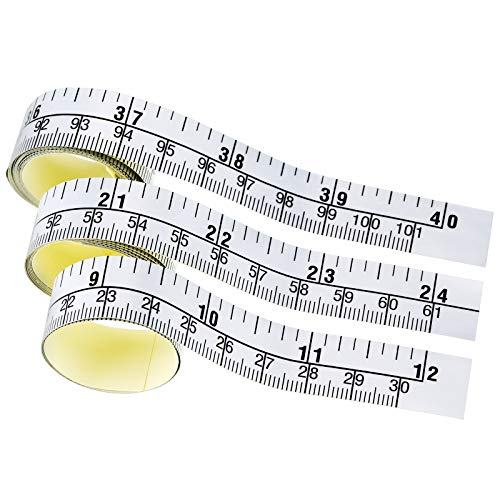 WIN TAPE Pack of 5pcs 30 Centimeters Short Adhesive Table Sticky Measuring Tape Ruler Self-Adhesive Tape Measure CM