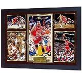 S&E DESING Michael Jordan Chicago Bulls Signed NBA Photo Print NBA Autographed Framed