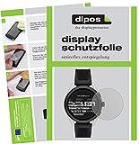 dipos I 2X Protector de Pantalla Mate Compatible con Emporio Armani Smartwatch 3 pelicula Protectora