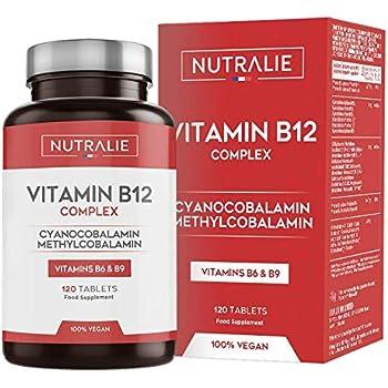 Vitamina B12 Vegana 2000mcg Cianocobalamina e Metilcobalamina   Alta Potenza senza Aggiunte   Formazione di Globuli Rossi e Stanchezza Ridotta con Vitamina B9 e B6   120 Compresse Vegetali Nutralie