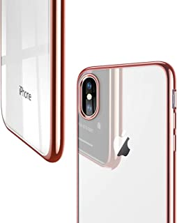 ESR Slim Clear Soft TPU Case for iPhone Xs/ iPhone X, Soft Flexible Cover Compatible for 5.8 inch(2017 & 2018 Release)(Rosegold Frame)
