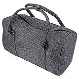 Marabella Filz Reisetasche Weekender 50x30x23cm Shopper Tasche Sporttasche Filztasche, Farbe:anthrazit