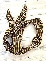 Marsnmay Fascia Per Capelli 100% Cotone Lavabile A Mano Fil Di Ferro Che Permette Di Modellare A Piacimento Modello Afro
