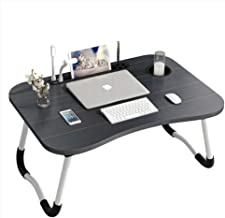 Folding Laptop Desk,Dual USB Interface(Incidental USB Fan, USB lamp) for Bed & Sofa   Couch Table, Bed Desk, Laptop, Writi...