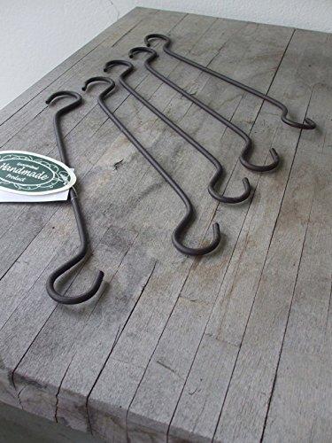 5 Praktische Verlängerungshaken (5er Set), Eisenhaken, S-Haken, 28 cm