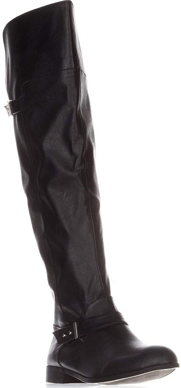 Bar III Womens Daphne Closed Toe Knee High Fashion Boots, Black, Size 7.0
