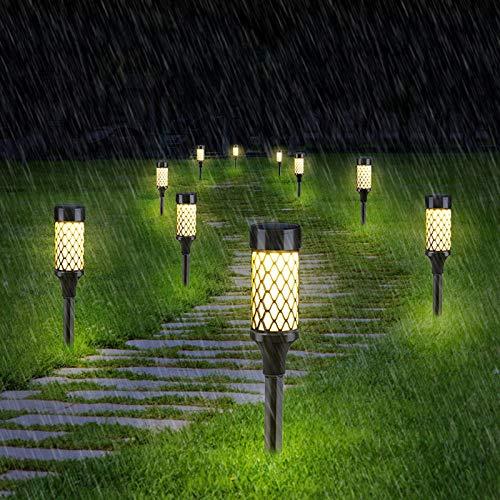 hong Luces solares para paisajes, luz Solar para Caminos, fácil instalación, Impermeable, césped de Paisaje de 10 LED para jardín, Patio