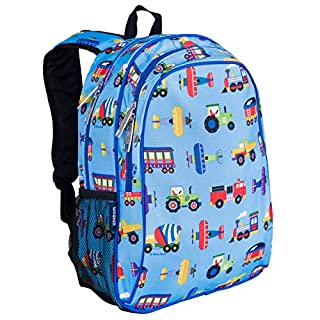 Wildkin Kids 15 Inch Backpack for Boys and Girls, Perfect Size for Preschool, Kindergarten and Elementary School, 600-Denier Polyester Fabric Backpacks, BPA-free, Olive Kids(Trains, Planes and Trucks) (B003F1HCVG) | Amazon price tracker / tracking, Amazon price history charts, Amazon price watches, Amazon price drop alerts