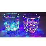 Nubstoer - Juego de 6 vasos con LED intermitentes, para fiestas, bodas, clubes, Navidad, Halloween, decoración