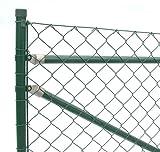 Zaun-Nagel Maschendrahtzaun Set komplett Paket Gartenzaun Drahtzaun Trennzaun Weidezaun Drahtgitter Gitterzaun 25 m / 80 cm hoch