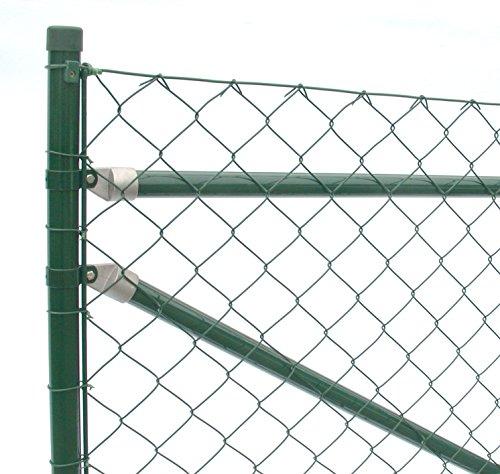 Maschendrahtzaun Komplettset Premiumqualität - 25 m / 175 cm hoch Zaunset zaunpaket kompletter Zaun Drahtzaun extra stabil grün