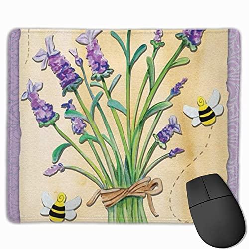 Alfombrilla de ratón para juegos con goma antideslizante, alfombrillas de alfombrilla para ratón de textura premium, bonita alfombrilla para jugador, oficina y hogar Primavera Verano Flor de abeja zum
