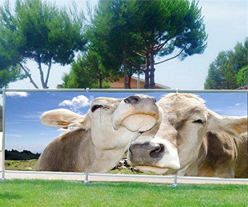 StickersNews Frangivista, Giardini, terrazze, Balcone, Motivo: Mucche, 100%, 180x70cm