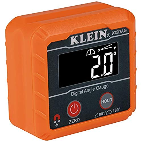 Klein Tools 935DAG Digital Electronic Level and Angle Gauge, Measures 0 - 90 and 0 - 180 Degree Ranges, Measures and Sets Angles