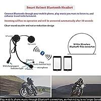 デュアルバイザー内蔵のBluetooth付きフルフェイスモジュラーモーターサイクルヘルメットDOTECE承認済みフリップアップフロントクラッシュヘルメット(大人の女性と男性用) A,L