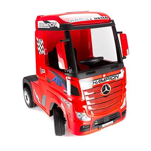 Mercedes Actros Truck LKW - ROT - Lizenziert - Kinderfahrzeug Elektroauto Kinderauto LKW Truck Kindertruck