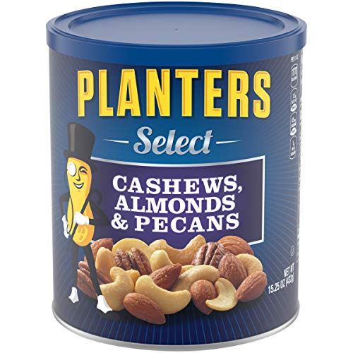 PLANTERS Select Cashews, Almonds & Pecans, 15.25 oz. Resealable Container - Salted Nuts - Kosher